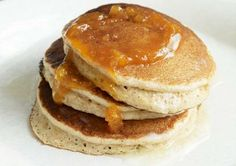 Whole Wheat Pancakes    Whole wheat flour and omega-3 enriched eggs turn pancakes from a forbidden decadence to a healthy diet staple. Cinnamon and flaxseed provide a sweet, comforting flavor and texture.
