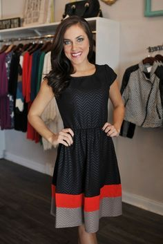 Black dress with a splash color makes this perfect for spring events!