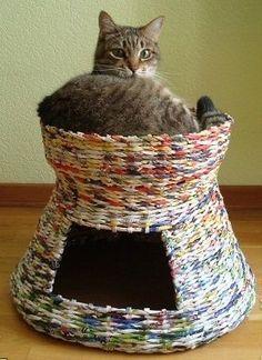 Cat basket. Basketball fot cat. SESTA por gatos. by BelgodEco