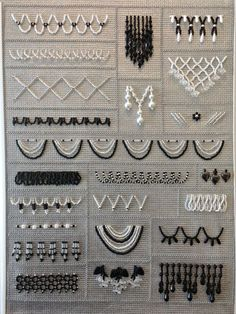 Time for an Update Best Picture For Bead Embroidery Patterns abaya For Your Taste You are looking fo Bead Embroidery Tutorial, Bead Embroidery Patterns, Tambour Embroidery, Embroidery On Clothes, Couture Embroidery, Hand Embroidery Stitches, Embroidery Fashion, Embroidery Jewelry, Hand Embroidery Designs
