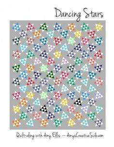 Dancing Stars by Amy Ellis of Amy's Creative Side. It's a paper piecing quilt along. House Quilt Patterns, Beginner Quilt Patterns, Star Quilt Patterns, House Quilts, Paper Piecing Patterns, Quilting For Beginners, Star Quilts, Easy Quilts, Quilting Tutorials
