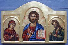 Icon of Deisis painted by Marchela Dimitrova