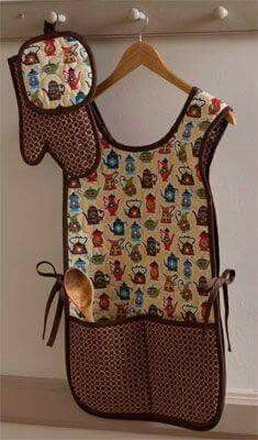 Apron, potholder  DIY gift idea!