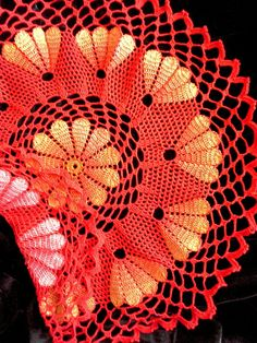Red lace doily Crochet doilies Crochet napkins Doilies by OlLace