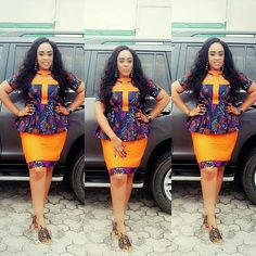 2019 Most Beautiful Ankara skirt And Blouse Styles You Should Rock Modern African Print Dresses, African Dresses For Women, African Fashion Dresses, African Attire, African Wear, African Women, Ghanaian Fashion, African Prints, African Inspired Fashion