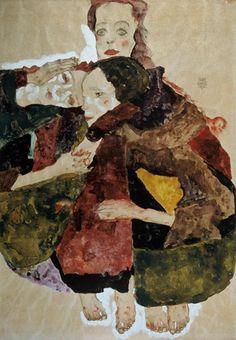 Egon Schiele-Groupe de trois filles