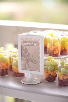Fruit Cups from a Modern Dinosaur Birthday Party via Kara's Party Ideas KarasPartyIdeas.com (29)