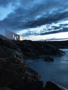 Artist's Studio Perched Atop Rocky Coastline