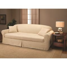 Merveilleux Transform Your Decor Instantly With This Soft And Supple Microsuede Sofa  Slipcover. Available In Cream