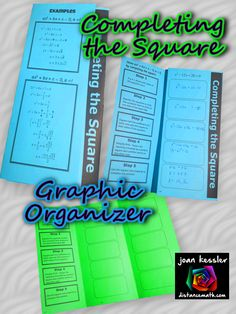 Great Foldable Organizer for Quadratic Equations