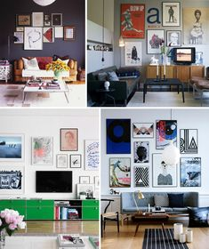 20 Inspirational Gallery Walls by Style | AO at Home Blog - lage kast linksonder