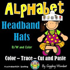 Alphabet Cut Paste and Trace Headband Hats