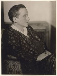 Man Ray, Gertrude Stein, 1926, gelatin silver print. Courtesy of the National Portrait Gallery, Smithsonian Institution, © 2010 Man Ray Trust/Artists Rights Society (ARS), New York/ADAGP, Paris, Seeing Gertrude Stein: Five Stories, Contemporary Jewish Museum (May 12, 2011-September 6, 2011).
