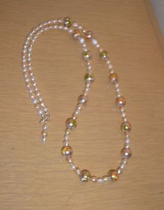 Hand Painted Pearl Passion/with peach and by CreationsbyMaryEllen, $23.99