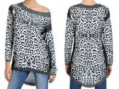 FRACOMINA Animalier maxi pull - NEW COLLECTION