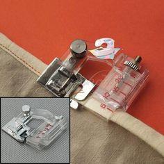 Snap-on Adjustable Bias Binder Presser Foot for Sewing Machines