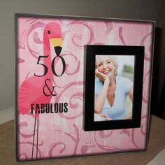 This age-specific birthday picture frame. | Community Post: 15 Random Gifts For That One Friend Who Really Loves Flamingos