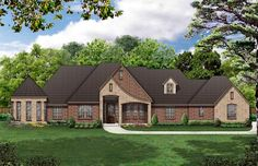 House Plan 69919 | European   Traditional    Plan with 2685 Sq. Ft., 3 Bedrooms, 3 Bathrooms, 3 Car Garage