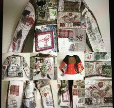 Wearable Art, Upcycle, Floral Tops, Gallery Wall, Jackets, Collage, Quilts, Blanket, Coat
