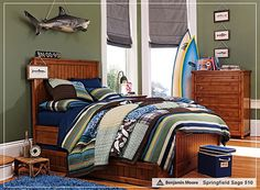 Love everything about this one.  Wonder where I can find a shark like the one hanging?