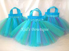 Set of 6 Colorful Splash Party Favor Tutu Bags - Party Decorations. $57.00, via Etsy.