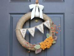 Repeat Crafter Me: Burlap Fall Wreath