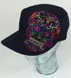 Check out this item in my Etsy shop https://www.etsy.com/listing/244967111/candy-skull-hat