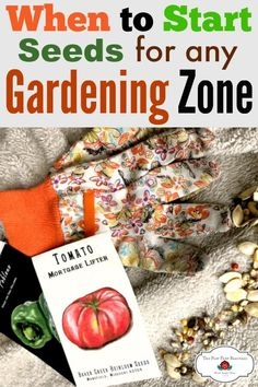 Taking the guess work out of starting seeds no matter what gardening zone you live in. PLUS a free and easy gardening calculator. Starting seeds is easy and fun!