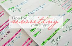 Tips for Rewriting Notes via Curiosity and Charm
