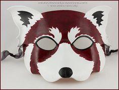 b8039410b430 Red Panda handmade leather mask Firefox by EirewolfCreations (Accessories