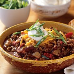 Stout makes the beef taste beefier in this chili. For best results, pick out a five-pound boneless chuck roast and have the butcher grind it for you.          WHAT TO DRINK: Sam Adams Cream Stout has a malty sweetness that's just right.