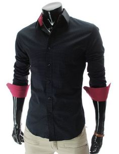 TheLees (HA215) Mens Slim fit Stretchy Long Sleeve Small Dot Pattern Shirts Black  TheLees,http://www.amazon.com/dp/B0098CRXZ6/ref=cm_sw_r_pi_dp_Ql9Yqb1ZRTPNDDTE
