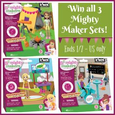 Welcome to the Mighty Makers Building Set Giveaway  Hosted by Mom Does Reviews | Sponsored by K'NEX Hailey's Star Gazing Adventure is recommended for ages 7+. It comes with a colorful brochure with step by step instructions on how to build Hailey...