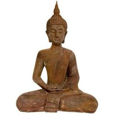 @Overstock - At almost a foot and a half tall, this delicate work of authentic Asian art imparts beauty and harmony. The Buddha is seated in the traditional lotus posture, face absorbed in contemplation, with a flaming 'usnisa' top knot and third eye 'bhindi' centeredhttp://www.overstock.com/Worldstock-Fair-Trade/17-Inch-Thai-Sitting-Zenjo-in-Iron-Look-Buddha-Statue-China/7859939/product.html?CID=214117 $73.00