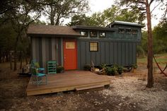 A one-of-a-kind tiny house, designed on the show Tiny House Nation, for a couple of world traveler's from Austin.
