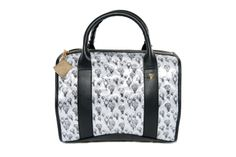 Crystal Bag - White Balloons and Black www.federicalunello.com #federicalunello #bags #accessories #handamade #madeinitaly