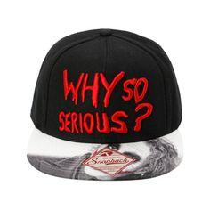 68ea3400e11f0 DC Comics The Dark Knight Why So Serious Snapback Hat