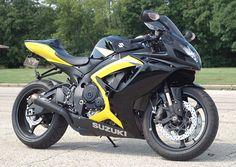 Suzuki GSXR750 black & yellow 2006
