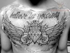 eagle chest piece tattoo | : [url=http://www.tattoostime.com/diamond-with-crown-tattoo-on-chest ...