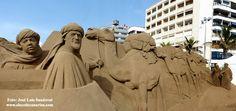 Fotos, vídeo Belén arena 2014 - 2015 Las Canteras, Las Palmas de Gran Canaria, Islas Canarias España