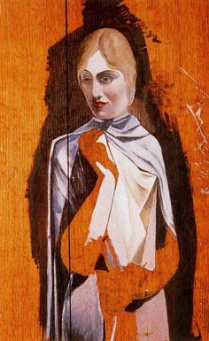 Salvador Dali - Portrait of a Woman,1926, oil on wood