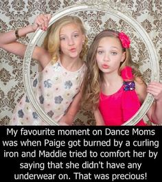 Dance moms confessions. One of them