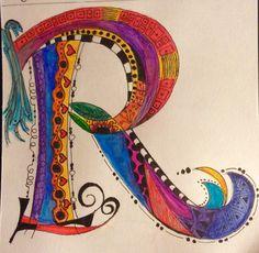 Rebel Calligraphy Doodles, Doodle Lettering, Creative Lettering, Calligraphy Letters, Alphabet Art, Letter Art, Zentangle Drawings, Art Drawings, Zentangles