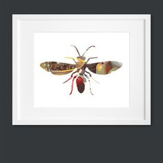 Wasp Silhouette now featured on Fab.  Can recreate with left over fabric in a frame.