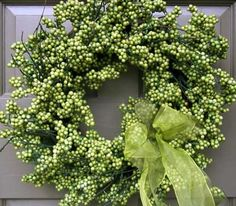 Glorious Green Berry Wreath - Creative Decorations by Ridgewood Designs