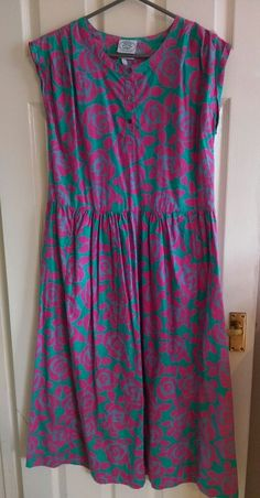 Vintage Laura Ashley dress, excellent condition Length shoulder to hem - 120cm Chest width, underarm to underarm - 50cm Waist width along seam - 45cm Happy to help, please ask any questions   eBay!