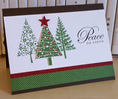 Peace With Trees www.stampingwithlinda.com Check out my Stamp of the Month Kit Program Linda Bauwin – CARD-iologist Helping you create cards from the heart.