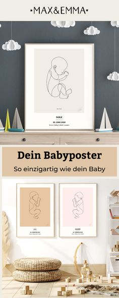 Modern Baby Furniture, Baby Furniture Sets, Baby Room Diy, Baby Room Decor, Baby Posters, Cute Poster, Room Ideas Bedroom, Baby Prints, Beautiful Babies