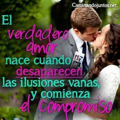 #caminandojuntos #matrimonio #frasepara2 #verdaderoamor #desaparecen #ilusiones #comieza #compromiso #frase #quote www.caminandojuntos.net