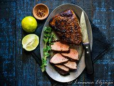 Recipe for Grilling Tri Tip Roast - Meathacker Grilled Tri Tip Recipes, Gourmet Recipes, Healthy Recipes, Tritip Roast Recipes, Roast Beef Recipes, Grilled Roast, Organic Beef, Slow Roast, Food Print